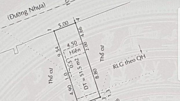 Nhà C4 còn kiên cố mặt tiền đường 12m ngay chân cầu Hiệp Phước