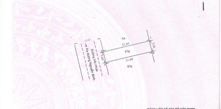Lô đất mặt tiền đường 22 đối diện Thành Công